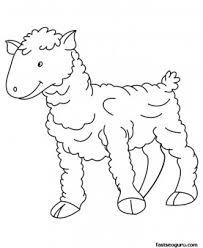 printable farm animal baby sheep coloring kids