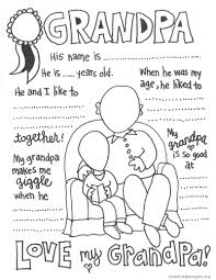 coloring pages of grandparents eson me