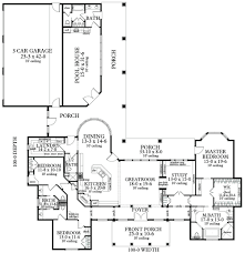 House Plans With Three Car Garage Ranch House Plan With 3 Bedrooms And 3 5 Baths Plan 3096