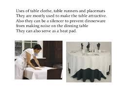 silence cloth table pad dining room presentation
