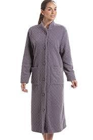 robe de chambre longue robe de chambre longue à boutons en polaire douce motif floral