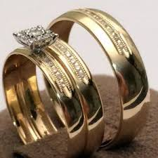 cheap wedding rings sets for him and his and hers wedding ring sets yellow gold his and hers gold