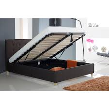 Ottoman Storage Bed Double by Loretto Button Ottoman Fabric Bed Next Day Select Day Delivery