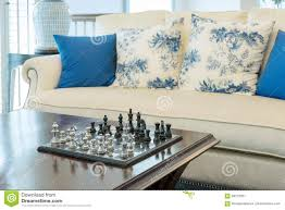 Living Room Pieces Decorative Chess Board With Chess Pieces In Luxury Living Room
