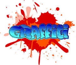 graffiti design cool graffiti design on blobs background stock vector