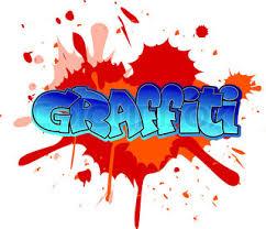 graffiti design cool graffiti design on blobs background stock vector