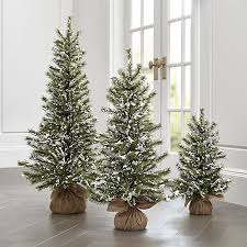 flocked pine trees crate and barrel