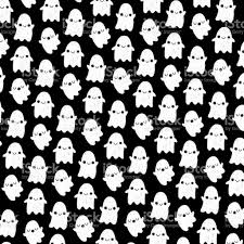 cute ghost halloween pattern background stock vector art 801931386