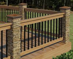 Patio Railing Designs Decor Tips Cool Exterior Design With Deck Railing Designs And