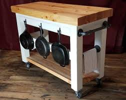 butcher block top kitchen island butcher block island etsy