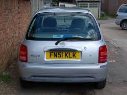 nissan micra x reg nissan micra auto 51 plate k11 60 000 2 owners in sliver fn51klk