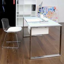 Minimalist Computer Desk Pleasing Minimalist Computer Desk With White Glass Pc Table Home