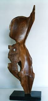 mukwa wood carved abstract contemporary modern sculpture statue