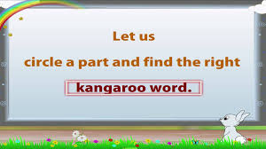 learn grade 1 english grammar kangaroo words youtube