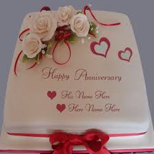 wedding anniversary cakes anniversary cake with name editor