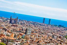 barcelona city view park guell and the magic fountain of montjuic barcelona