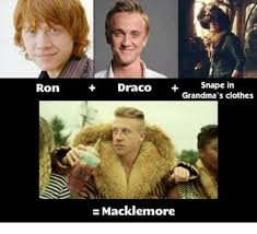 Draco Memes - ron snape in draco grandma s clothes macklemore clothes meme on