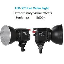 cheap studio lights for video dof 575 50w led camera 5600k offical portable outdoor flash studio