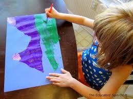 purple mountain painting activity art for kids the educators
