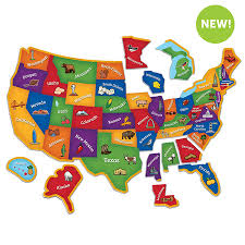us map puzzle magnetic u s map puzzle learning resources