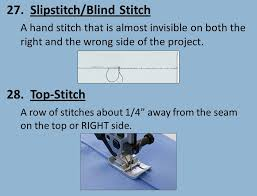 Blind Stitch Hem By Hand Sewing Equipment Ppt Video Online Download