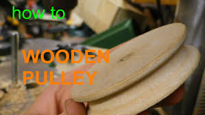wooden pulley without a lathe youtube