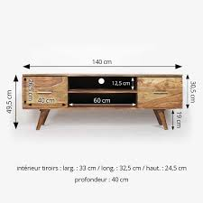 Mobilier Scandinave Occasion by Meuble Tv Scandinave 2 Tiroirs En Bois Made In Meubles