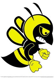 free fighting bee vector