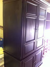 Black Armoire Havertys Lightly Distressed Black Armoire For Sale In Arlington