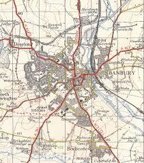 Paper Town Map Banburyshire Maps Banbury 1968