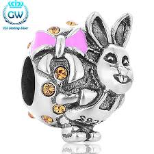bunny baskets 925 sterling silver easter bunny baskets silver rabbit charm fit