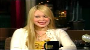 hilary duff interview on late show with david letterman 2004