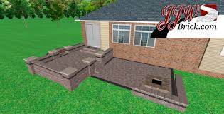 Building A Raised Patio Raised Brick Paver Patio With Seating Wall And Fire Pit In Macomb Mi