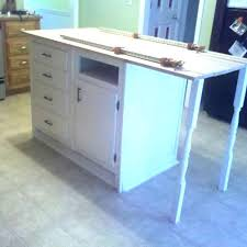 old base cabinets repurposed to kitchen island base cabinets