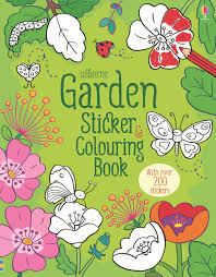 Garden Sticker And Colouring Book At Usborne Children S Books Colouring Book