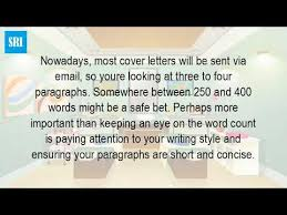 how many words should your cover letter be youtube