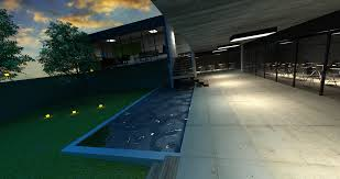 a work by aufi alwi night scene rendering sketchup and vray