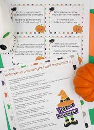 scavenger hunt with printable clues day family