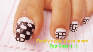 easy block nail art tutorial for beginners cute polish design