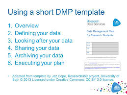 writing a data management plan dmp stephen grace and david