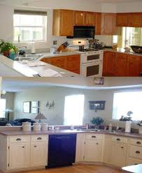 chalk paint kitchen cabinets before and after painting kitchen