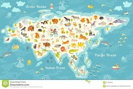 Blank Eurasia Map by The Most Detailed Animals World Map Eurasia Also Birds Ocean