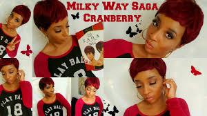 milky way hair belle best red hair ever milky way saga cranberry wig youtube