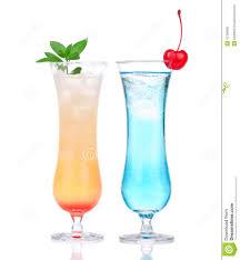 mai tai cocktail alcohol margarita mai tai cocktail and blue hawaian iced tea stock