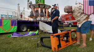 county fair accident woman falls 40 feet from super shot ride in