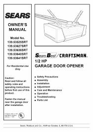 Overhead Door Model 456 Manual Craftsman Hp Garage Door Opener Wiring Diagram Horsepower Manual