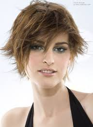 haircut for wispy hair short haircut with a layered nape and wispy fringing