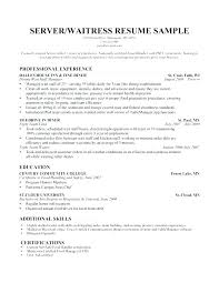 server resume exle this is bartender server resume bartender server resume