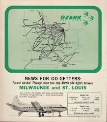 Psa Airlines Route Map by Ozark Airlines World Airline News