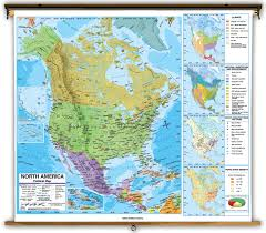 North America Map by North America Physical Classroom Map Wall Mural From Academia
